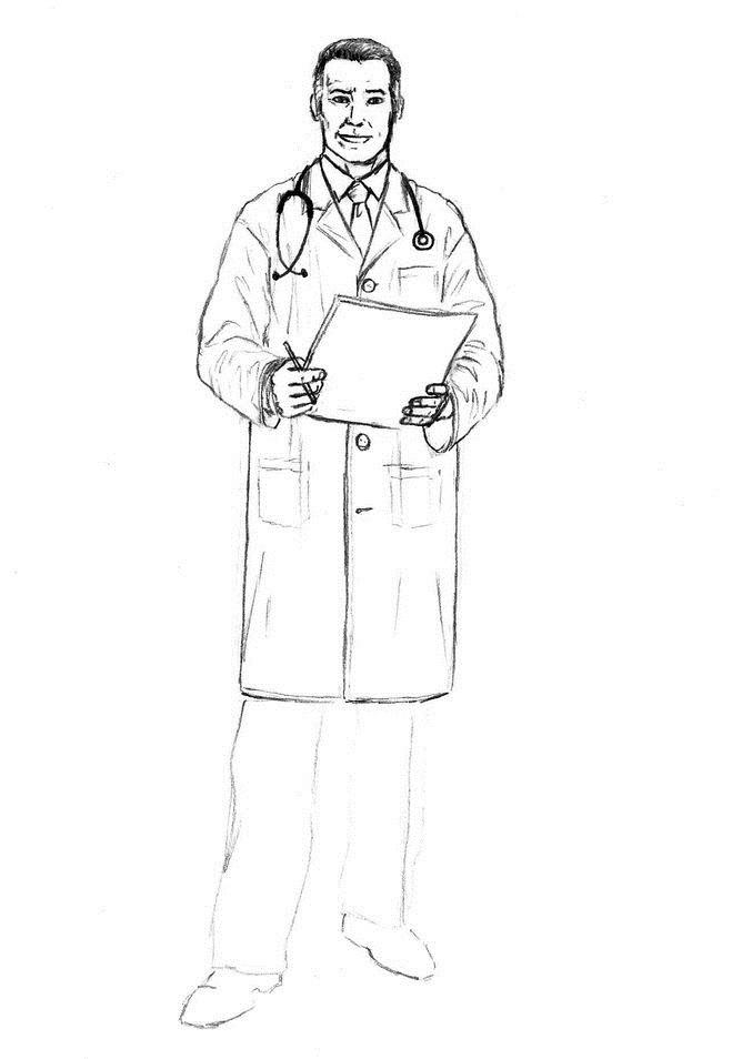 Картинки доктор карандашом