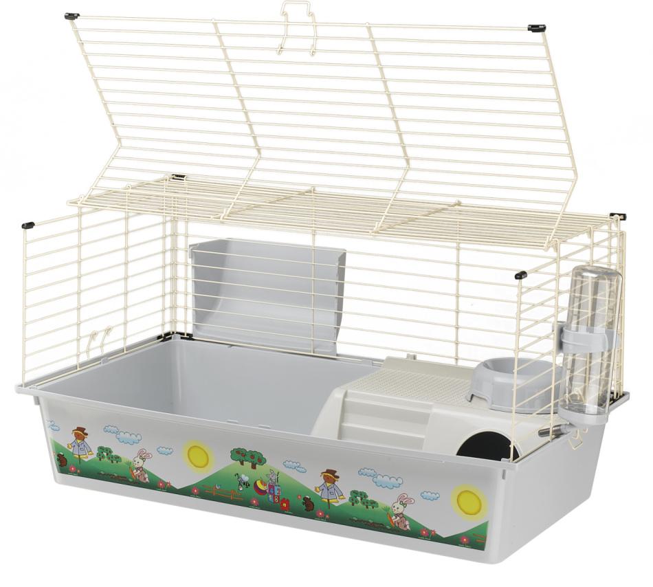 Клетку для кролика можно приобрести в зоомагазине