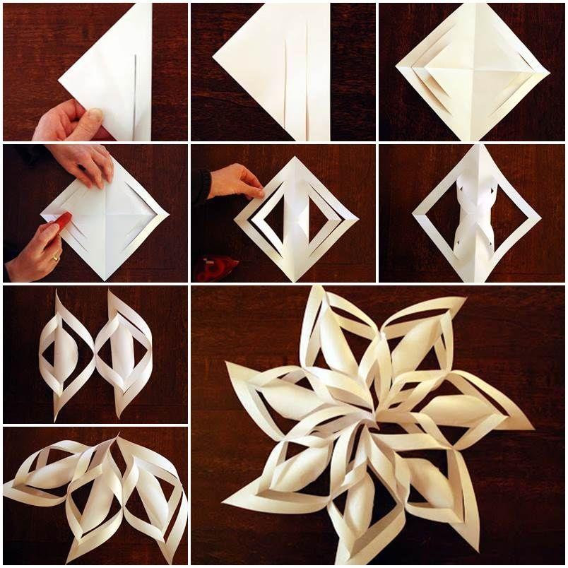 poyetapnaya-instrukciya-virezaniya-obemnoi-snezhinki Как вырезать красивые снежинки из бумаги своими руками поэтапно? Как сделать объёмную снежинку оригами?
