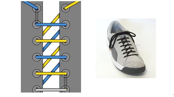 """""""пилообразная шнуровка"""" - оригинальный способ завязывания шнурков"""