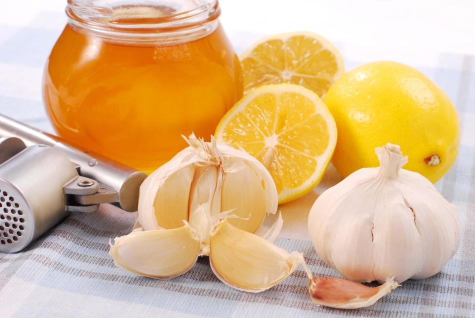Мед, чеснок, лимон