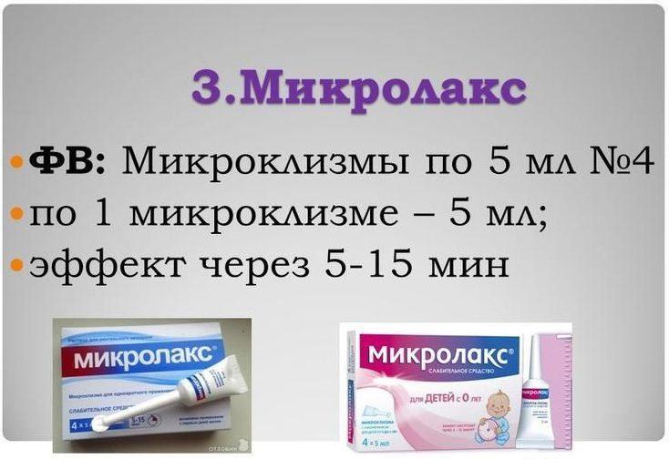 Микролакс - применение