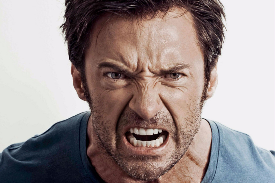 Физиогномические признаки злости на лице