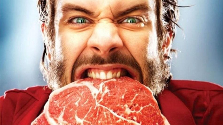 Бывший ест мясо во сне