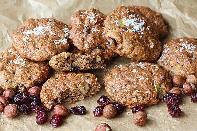 Орехи в печенье