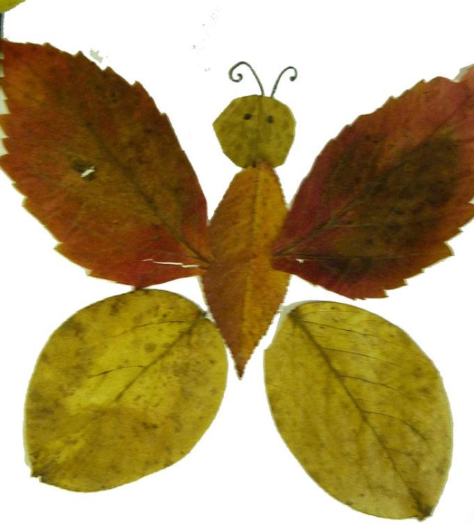 babochka-iz-listochkov Аппликации из цветной бумаги шаблоны распечатать для детей 2-3, 4-5, 6-7 лет. Фото. тема осень, зима, весна