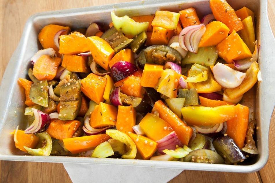 Осення запеканка из овощей с куркумой