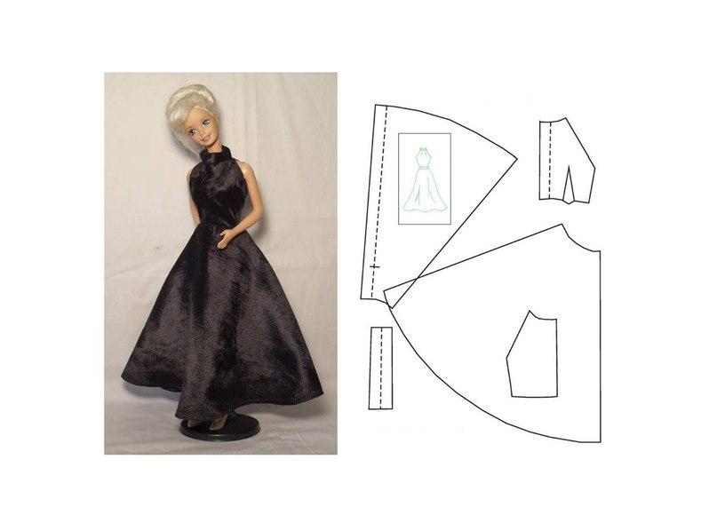 9a27ad884e8464f3b802112ca1b22872 Как сшить одежду для куклы Барби и Монстер Хай своими руками: выкройки, схемы, фото. Как сшить карнавальный костюм для куклы Барби и Монстер Хай своими руками?