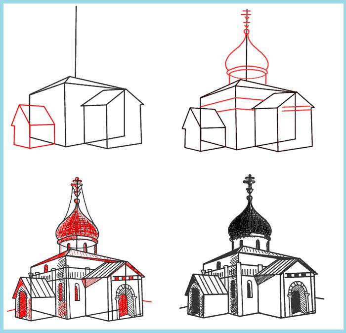 картинки церквей поэтапно приобретается магазине творчества