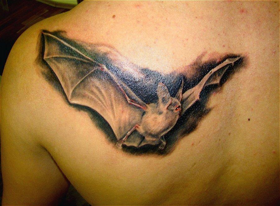 Летучая мышь - тюремное тату для ночных воров