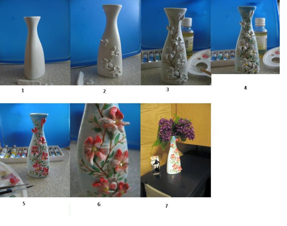 pervii-sposob-dekorirovaniya-vazi-polimernoi-glinoi Изделия, поделки из полимерной глины: мастер класс для начинающих своими руками