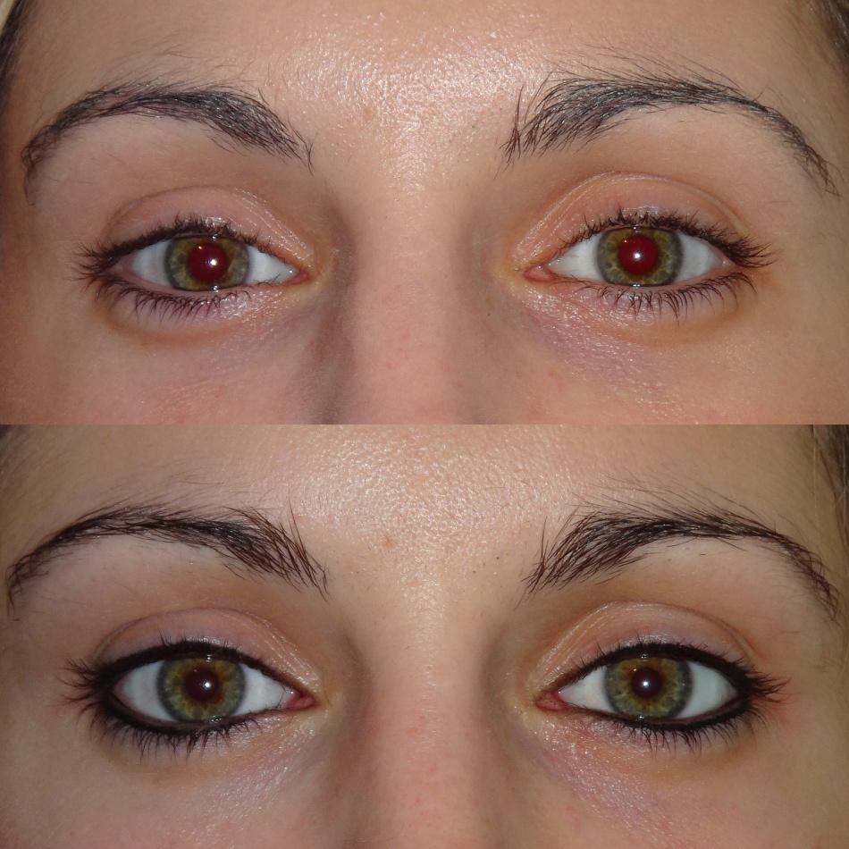 Татуаж глаз стрелки фото до и после