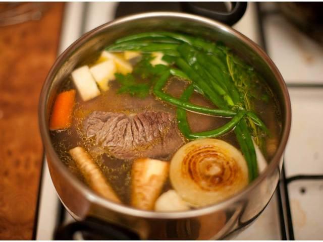 Рецепт супа с перловкой на говяжьем бульоне — 2