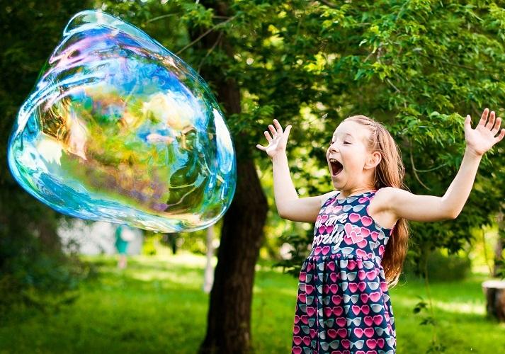 Мыльные пузыри вызовут уйму восторга у детворы