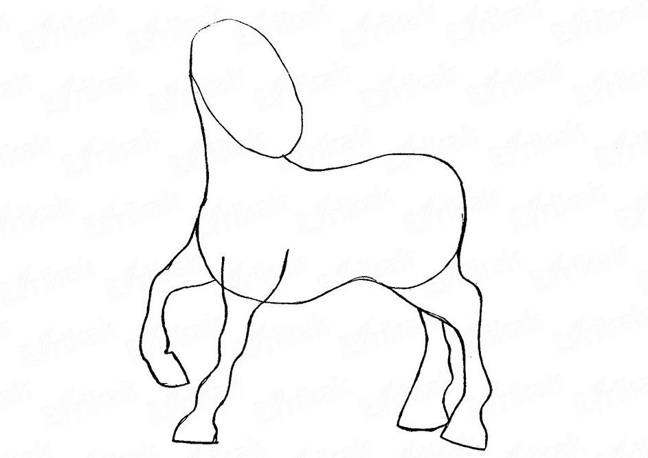 risuem-nogi Как нарисовать единорога Рисуем единорога поэтапно