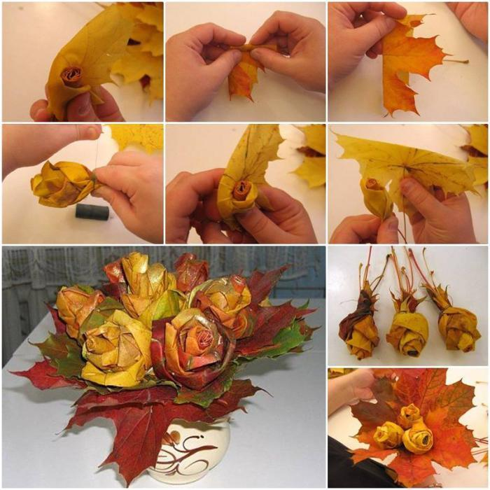 Как сделать экибану своими руками из листьев фото 218