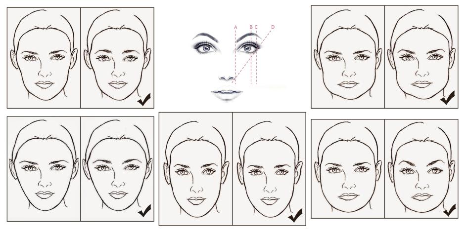 Выбираем форму бровей по форме лица