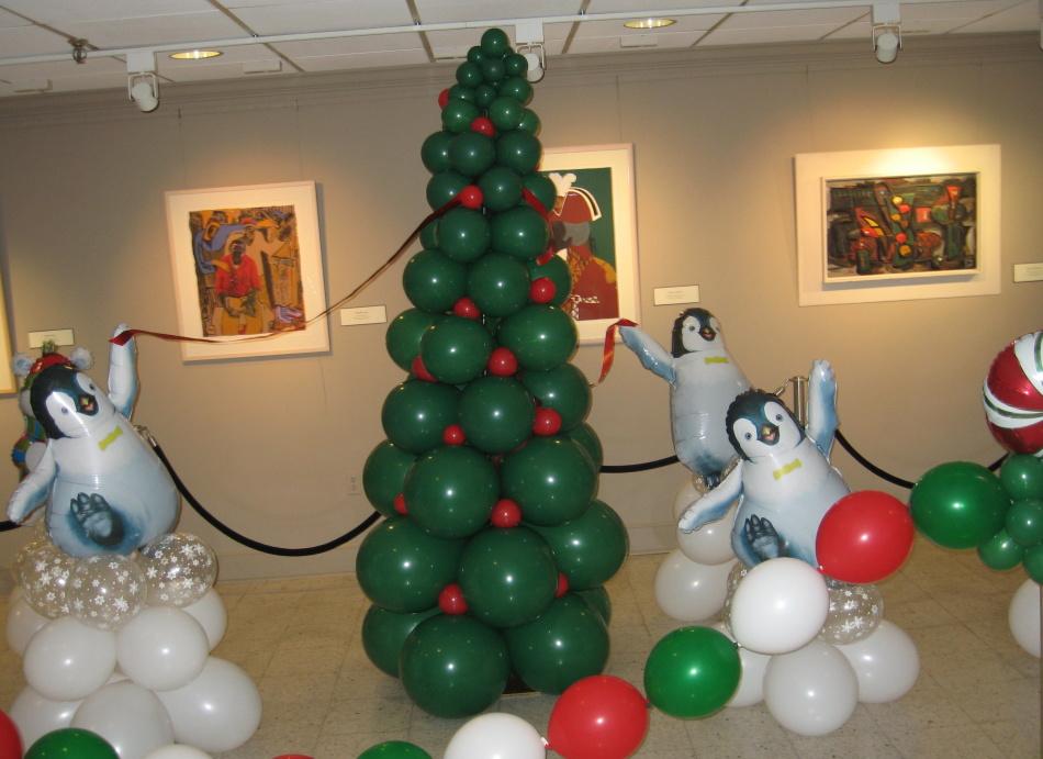 Прикольные оформления фото в шариках на елку