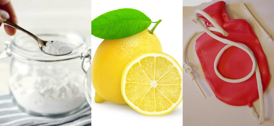 Этап 1: удаление паразитов из кишечника клизмой с содой и лимонным соком.