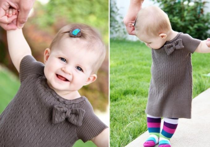 Платье для девочки из старого свитера
