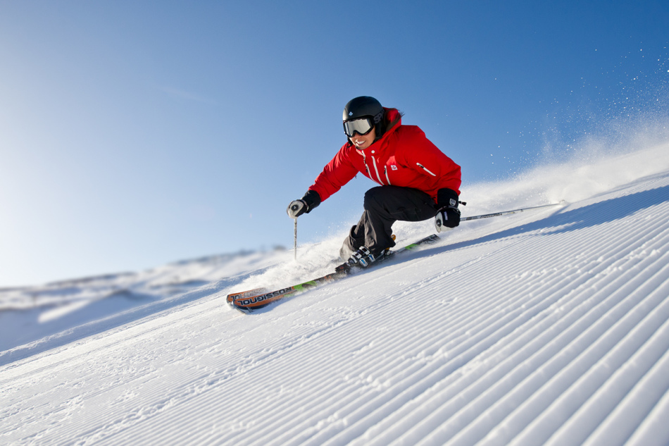 Катание на лыжах - положительный знак