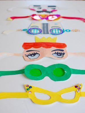 ochki-iz-kartona Куклы из бумаги своими руками (схемы, шаблоны) — Остров доброй надежды