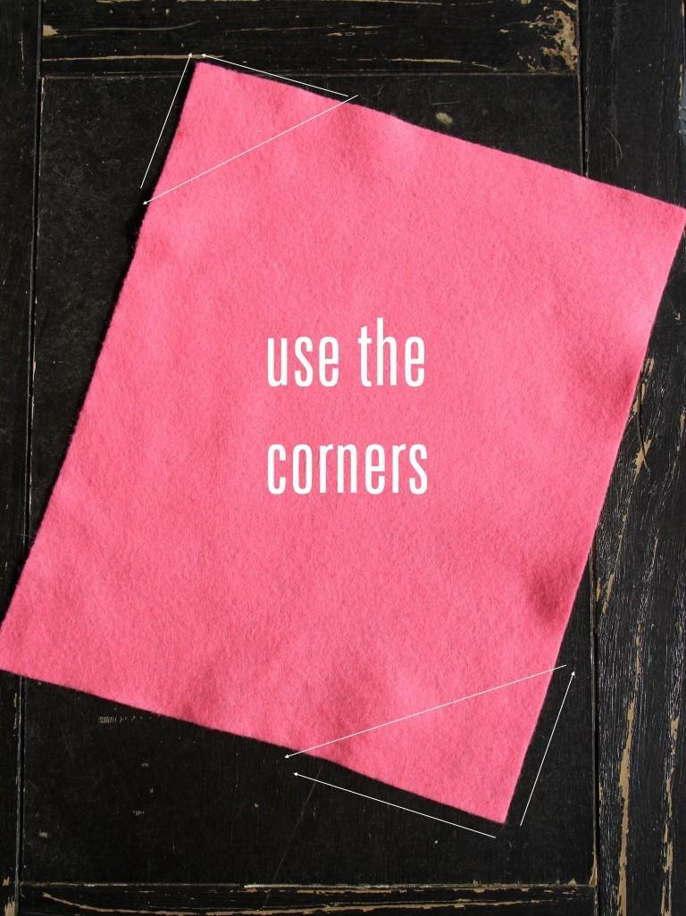 takie-ugolki-mozhno-razmetit-na-fetre-dlya-zakladki Закладка-уголок из бумаги для книг (оригами): как сделать своими руками