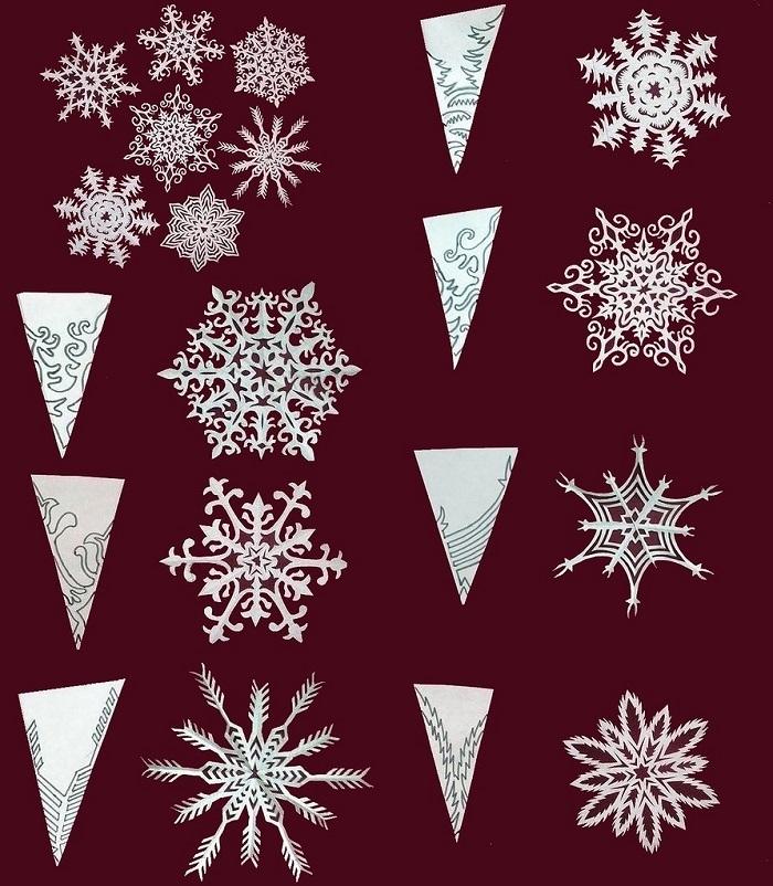 gotovaya-snezhinka-i-shema-risunka-dlya-ee-virezaniya-variant-9 Как вырезать красивые снежинки из бумаги своими руками поэтапно? Как сделать объёмную снежинку оригами?