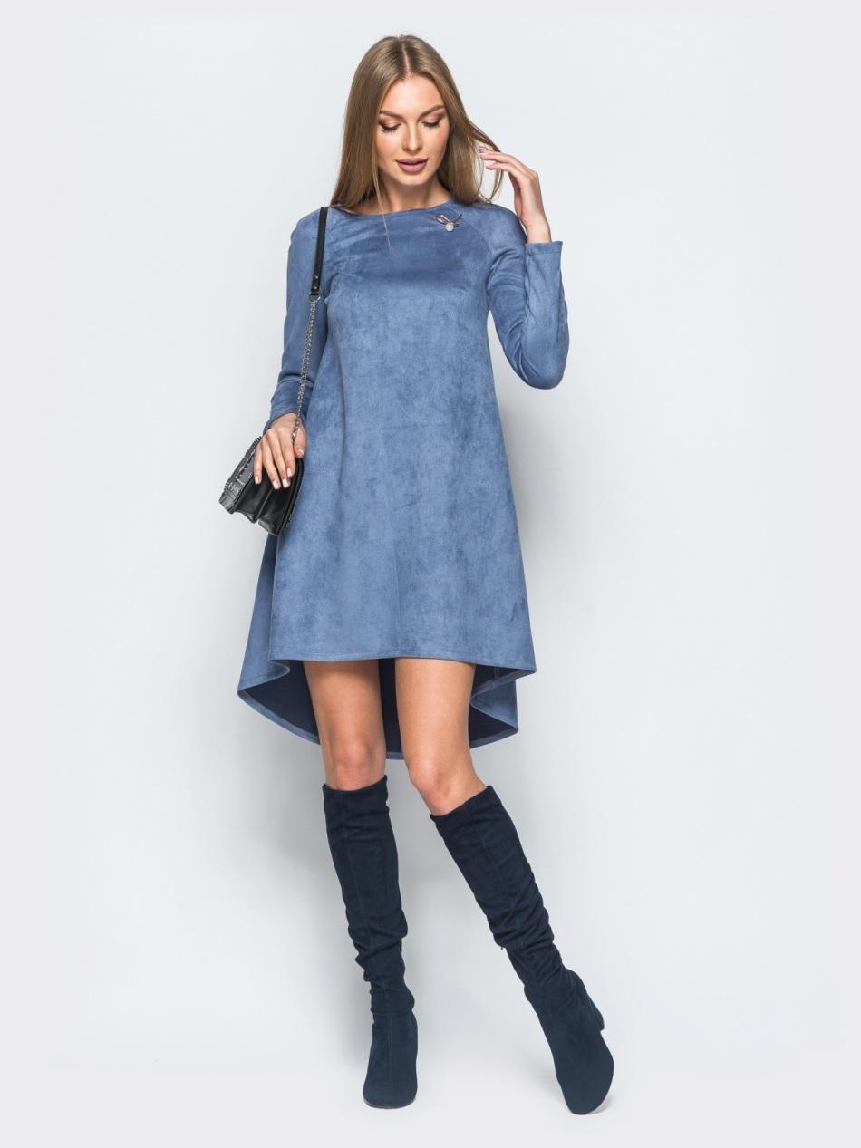 seroe-plate---trapeciya Выкройка платья трапеция: что представляет собой фасон трапеция — схема классической выкройки платья-сарафана. Платья трапеция для полных: схема чертежа. Выкройка расклешенного платья-сарафана