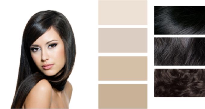 Палитра цветов красок для волос для зимнего типа внешности
