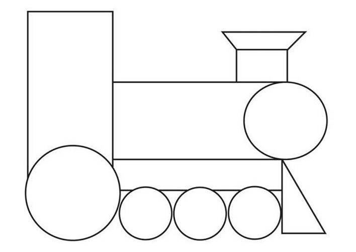 Картинки из геометрических фигур для детей 3-4 лет, для поздравления праздником