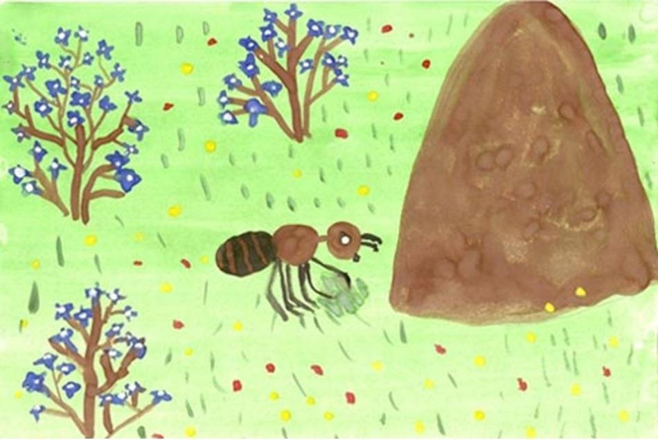 Картинки муравейника для детей нарисованные, советских открыток
