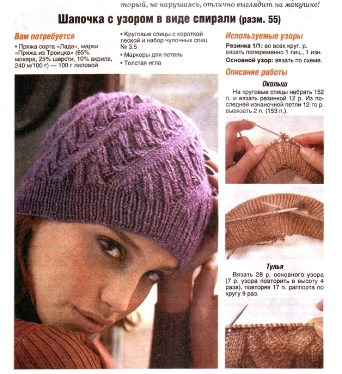 a9876ec979622e0fe09ac361fa31f90c Поиск на Постиле: Женские шапочки спицами