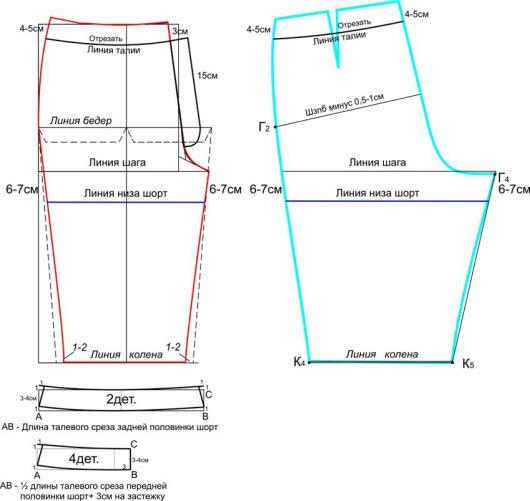 shema-vikroiki-izdeliya Юбка шорты выкройка своими руками и как сшить такую модель на разные размеры