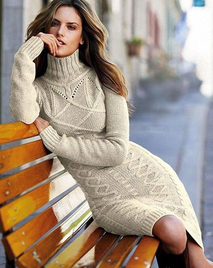plate-chulok-kosami Как связать платье спицами для женщин? Схемы и описания для начинающих и опытных 48 фото готовых моделей