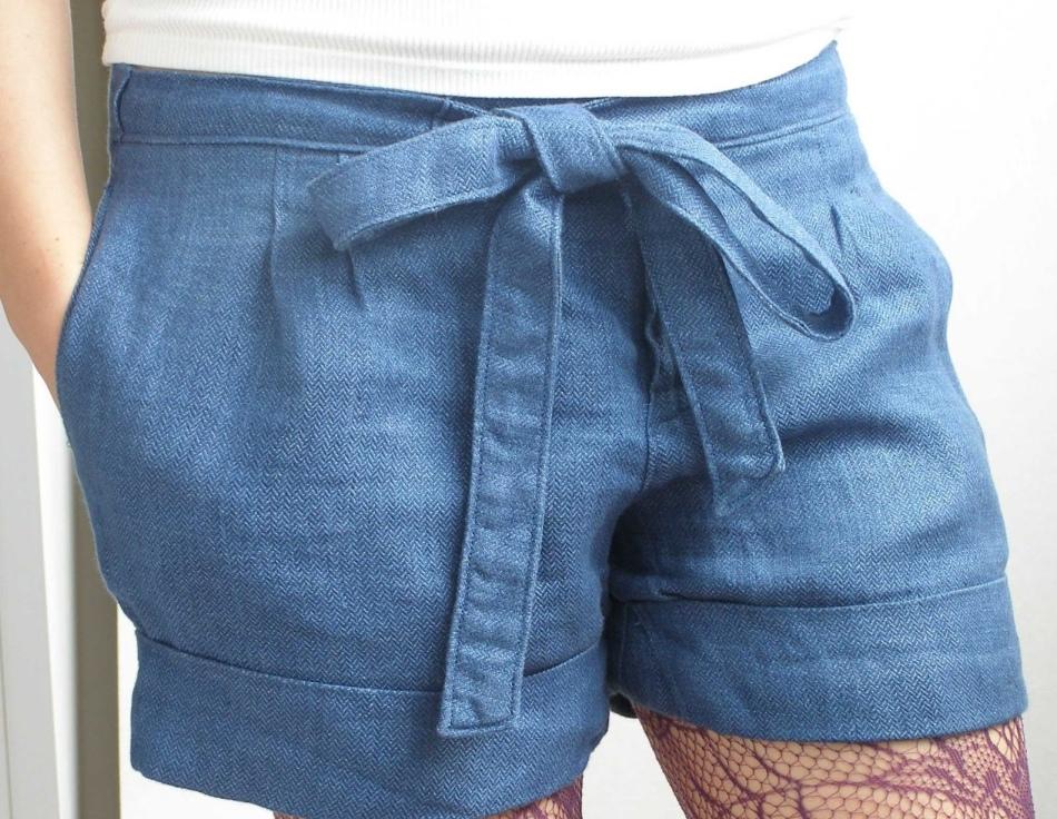 shorti-s-poyasom Юбка шорты выкройка своими руками и как сшить такую модель на разные размеры