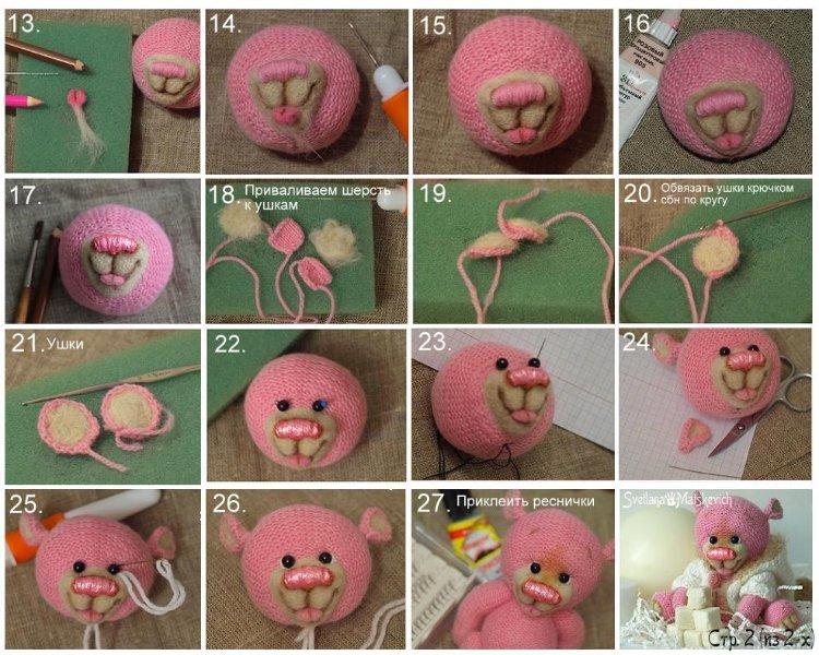 kak-sdelat-nosik Как связать игрушку амигуруми крючком (для начинающих)