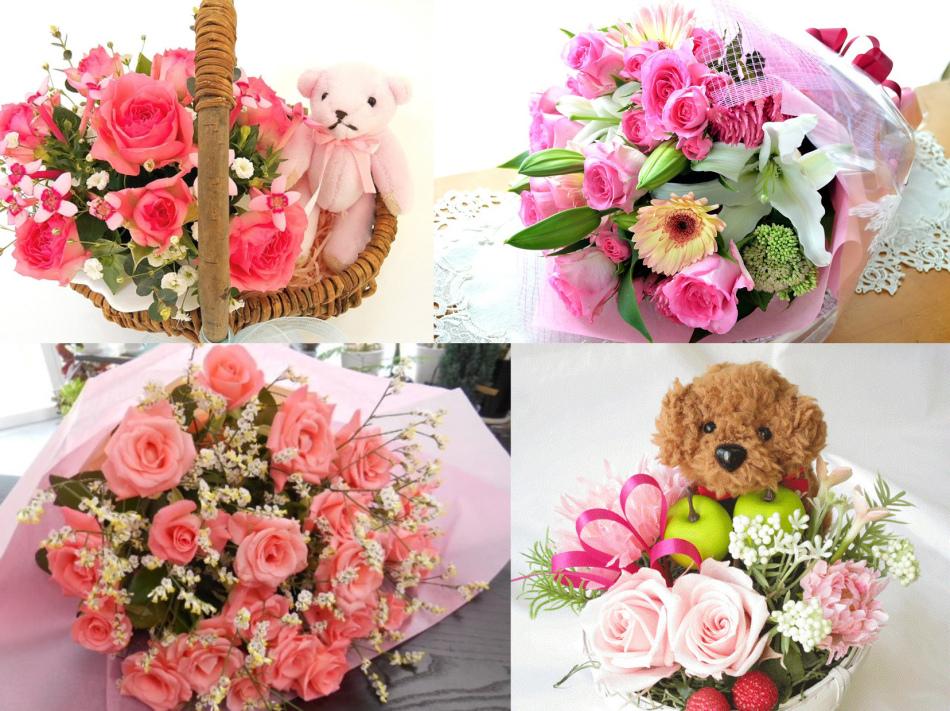 Букеты для розовой свадьбы