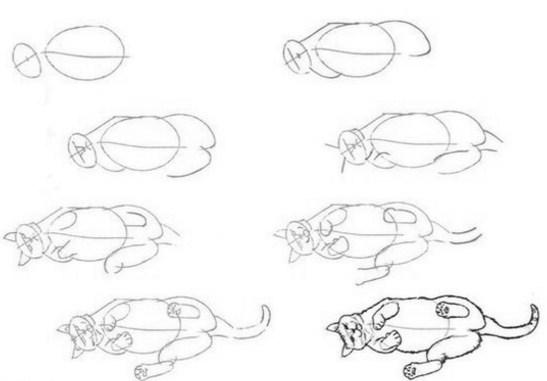 kotik-na-boku Как нарисовать котенка карандашом поэтапно для начинающих и детей? Как нарисовать котенка аниме с милыми глазками, мордочку котенка?
