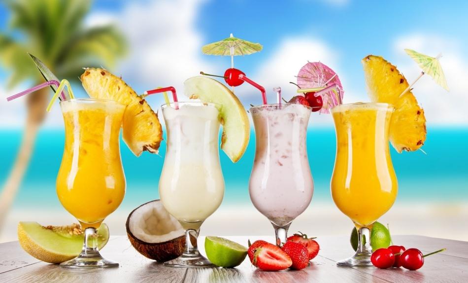 Легкие алкогольные, молочные коктейли
