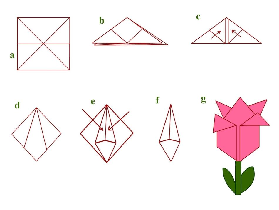 Оригами: цветы из бумаги. Делаем вместе. Топ 50 идей и мастер.