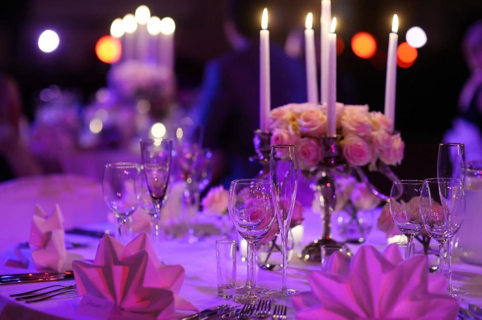 Романтичное убранство для праздника