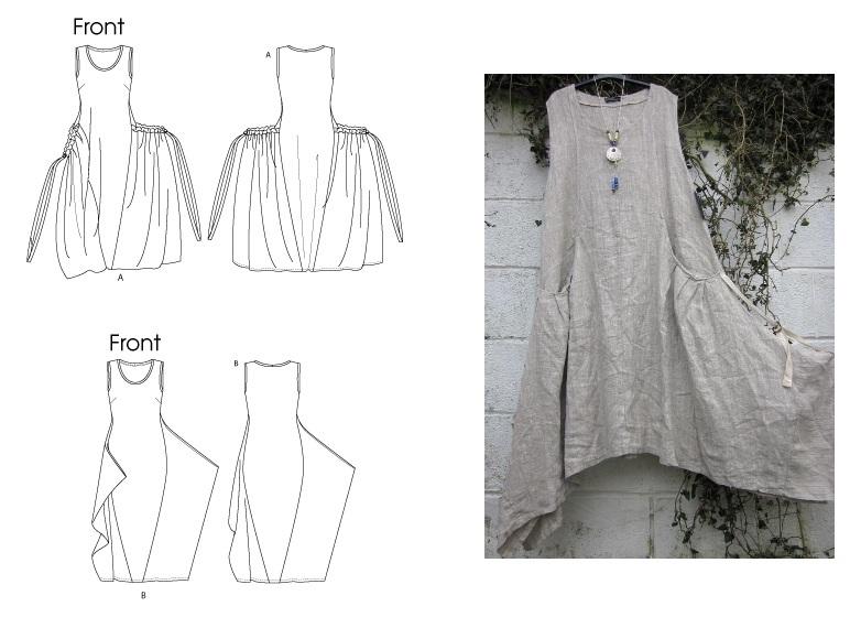 b1baa192a64f Бохо стиль своими руками для полных: выкройки юбки, платьев ...