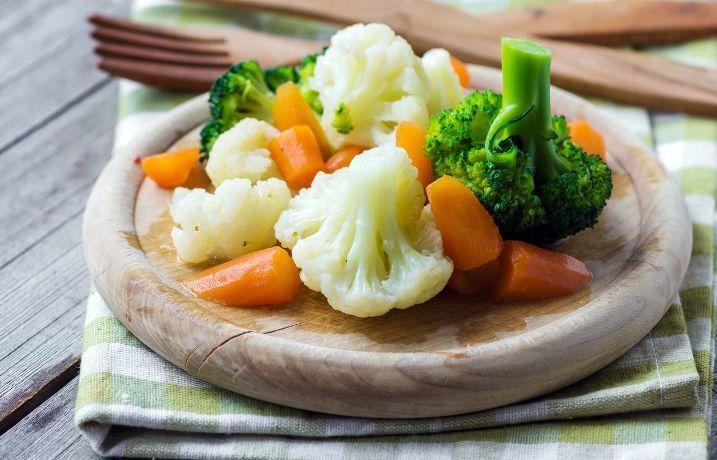 Выход из суповой диеты при помощи отварных овощей