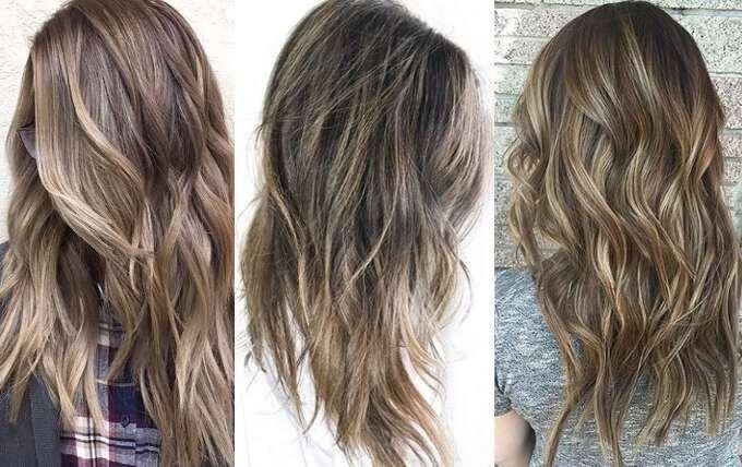 Блондирование на русых волосах
