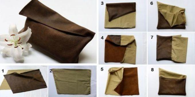 b07be310d47e828b18ed07744b9c4aa7 Клатч своими руками из старых джинсов, старой сумки, ткани, фетра: выкройки, описание. Как сшить модный женский и мужской клатч из натуральной кожи, замши, кожзама своими руками?
