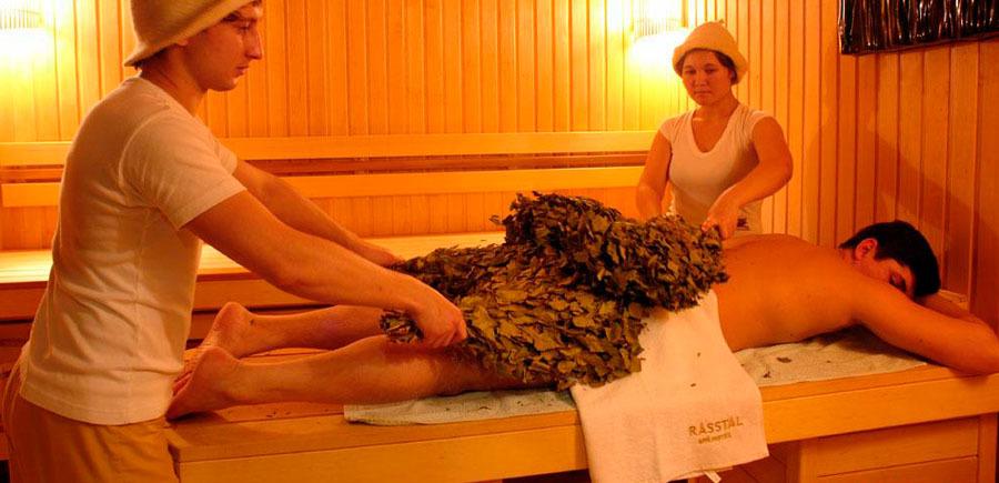 Банный массаж