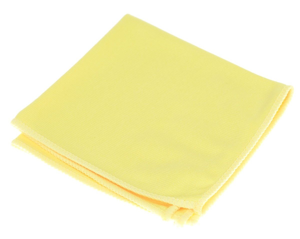Желтая салфетка из микрофибры для мытья зеркал