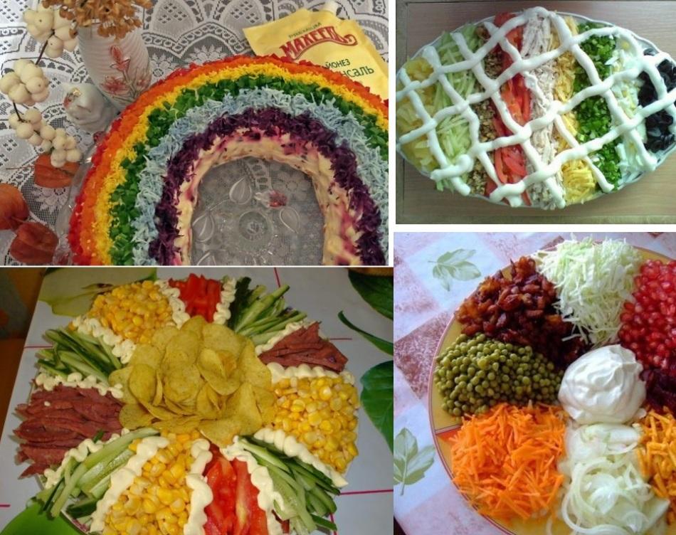 салат радуга рецепт с фото пошагово девушки