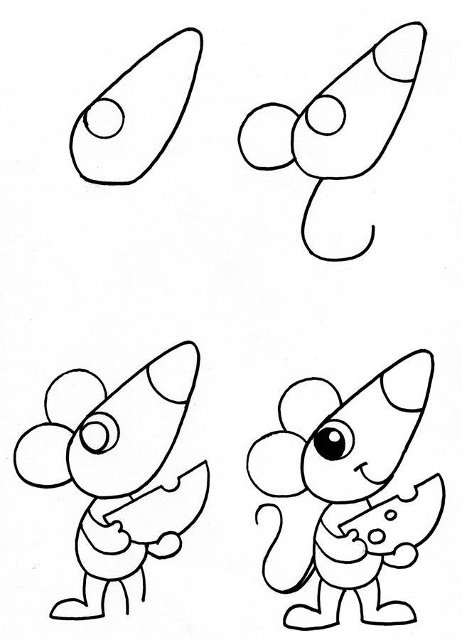 Детские картинки рисуем карандашом